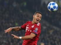 Thiago beim CL-Spiel FC Bayern gegen AEK Athen