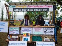 Demonstration von Kohlebefürwortern