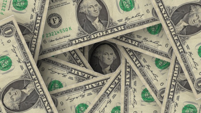 One dollar bills Ein Dollar Noten