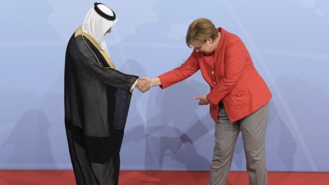 Angela Merkel mit dem saudi-arabischen Minister Ibrahim al-Assaf