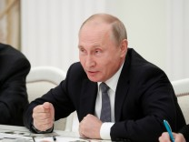 Russian President Putin attends a meeting with U.S. National Security Adviser Bolton in Moscow
