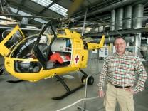 Hubschrauber Christoph 1 in der Flugwerft Schleißheim.