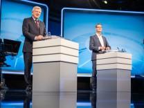 TV-Duell zwischen Bouffier und Schäfer-Gümbel