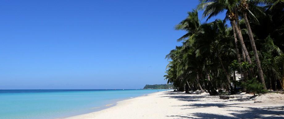 Ein Strand auf der philippinischen Insel Boracay