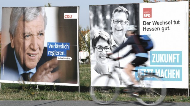 Landtagswahl Hessen - Wahlplakate