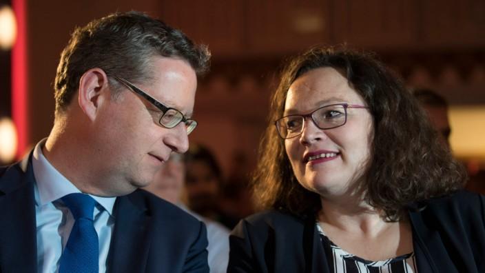 Landtagswahl Hessen - SPD-Wahlkampfveranstaltung