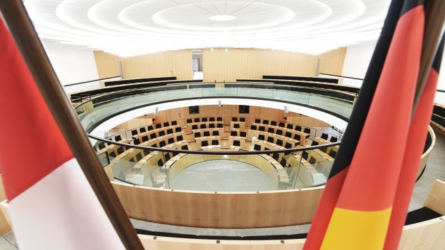Plenarsaal Hessischer Landtag in Wiesbaden