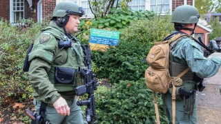 SWAT police officers respond after a gunman opened fire at the Tree of Life synagogue in Pittsburgh Pennsylvania