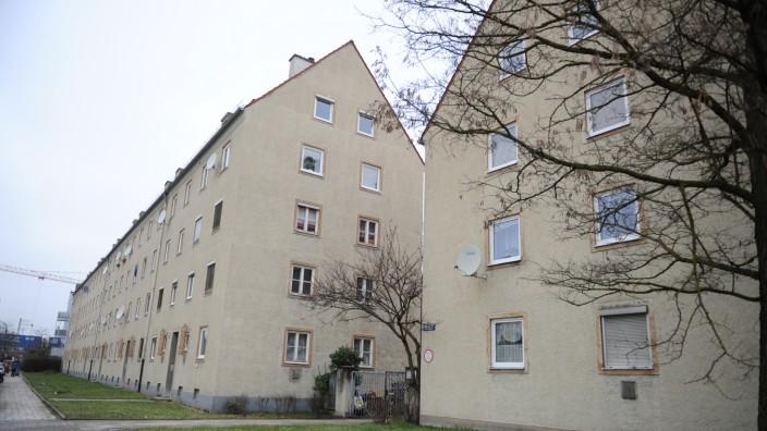 Wohnanlage aus den 1950er Jahren in München, 2015