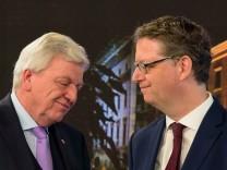 Volker Bouffier (CDU) und Thorsten Schäfer-Gümbel (SPD)