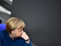 Angela Merkel im Deutschen Bundestag