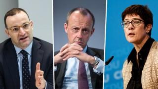 CDU-Politiker Spahn, Merz und Kramp-Karrenbauer