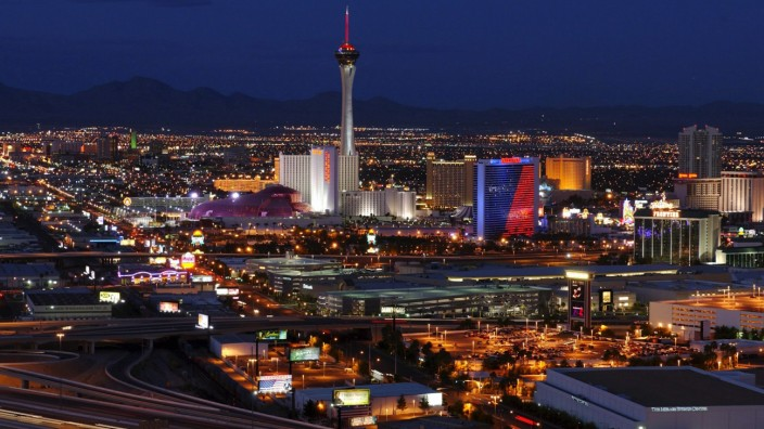 The World's gambling capital celebrates its 100th anniversary in Las Vegas, United States on October 04th, 2004.