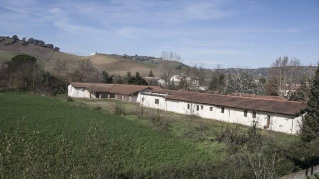 Jun 3 2015 Calabria Italy a view of the camp today Ferramonti Tarsia Cs Ferramonti di Tars