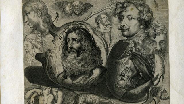 Michiel Snyders: Studienblatt mit Tizian, van Dyck, Granatapfel und anderen Motiven,