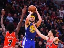 Klay Thompson von den Golden State Warriors im Spiel gegen die Chicago Bulls
