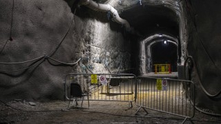 August 17 2017 Olkiluoto Finland The demonstration tunnel approximately 420 meters underground