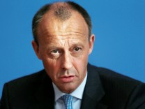 German conservative Friedrich Merz from CDU holds a news conference in Berlin