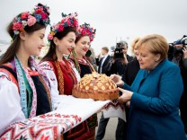 Bundeskanzlerin Merkel besucht Ukraine