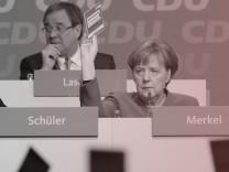 CDU-Vorsitzende Angela Merkel beim Parteitag