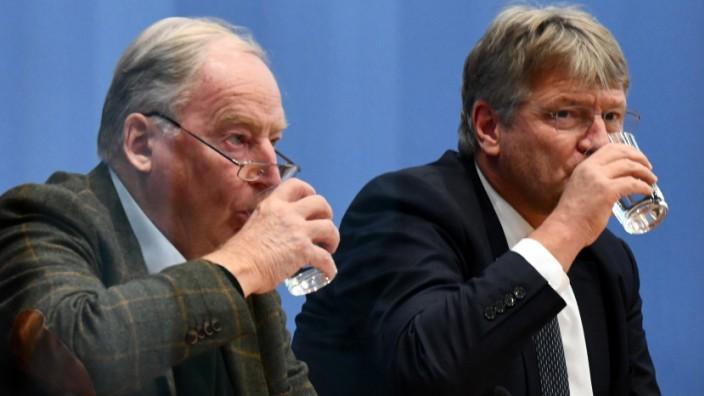 AfD-Pressekonferenz in Berlin
