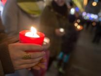 Demonstration München Lichterkette Rechtsextremismus