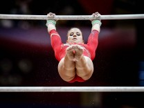 November 2 2018 Elisabeth Seitz of Germany during Uneven Bars for Women at the Aspire Dome in