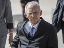 Bundestagspräsident Schäuble (CDU) besucht Israel