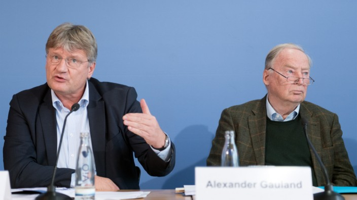 AfD-Parteivorsitzende Jörg Meuthen und Alexander Gauland
