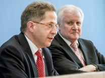 Hans-Georg Maaßen bei der Vorstellung des Verfassungsschutzberichts 2017