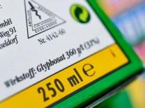 Glyphosat-Verpackung