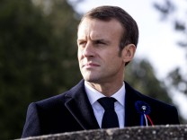 Emmanuel Macron in Les Eparges