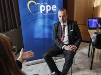 Interview of leader of the European People's Party in the European Parliament, German Manfred Weber, Sevilla, Spain - 04 Nov 2018