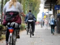 Radfahren in München Lindwurmstraße
