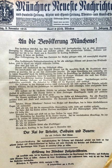Geschichte Revolution vor 100 Jahren