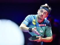 181021 CHESSY Oct 21 2018 Timo Boll of Germany serves during the final match against Fan