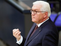 German President Frank-Walter Steinmeier gives a commemorative speech at Berlin's Reichstag to mark the 100th anniversary of the Weimar Republic, in Berlin