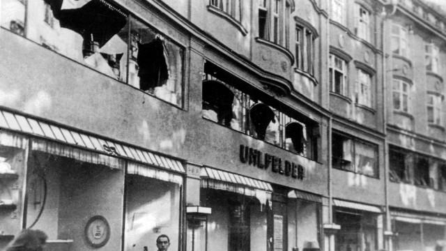 """Kaufhaus Uhlfelder nach der """"Reichskristallnacht"""" in München, 1938"""