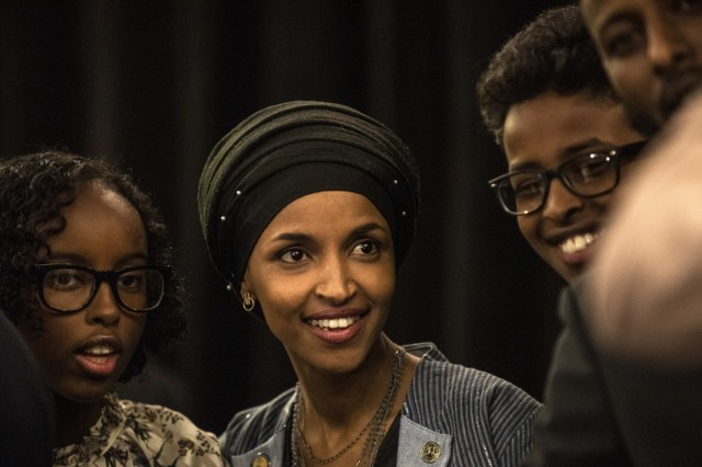 Minnesota Congressional Candidate Ilhan Omar Attends Election Night Event In Minneapolis