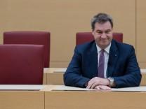 Markus Söder (CSU) im bayerischen Landtag
