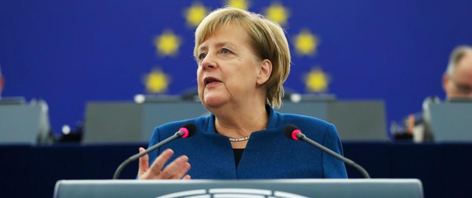 Europäische Union Kanzlerin im EU-Parlament