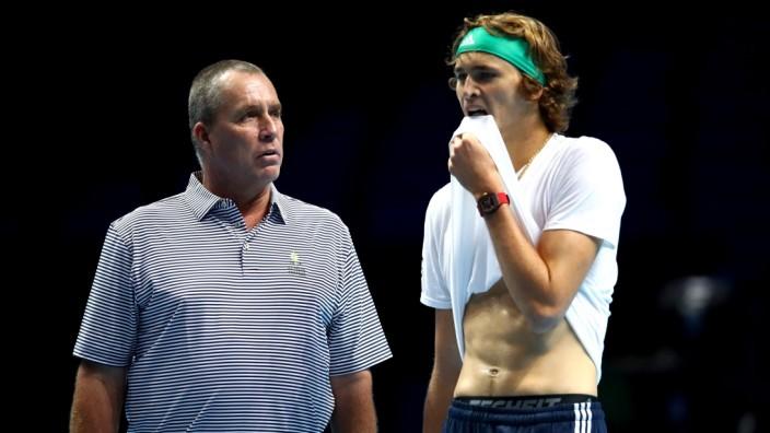 Alexander Zverev mit Trainer Ivan Lendl