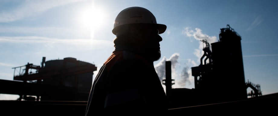 Stahl-Arbeiter der Salzgitter AG in Deutschland