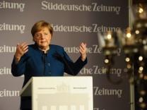 """Angela Merkel beim """"Süddeutsche Zeitung Wirtschaftsgipfel"""" in Berlin, 2018"""
