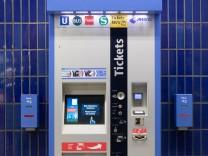 Fahrscheinautomat in München, 2018