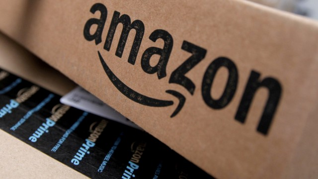 Amazon-Pakete vor der Auslieferung