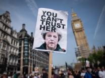 Protest gegen Theresa May