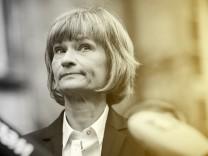 Oberbuergermeisterin von Chemnitz Barbara Ludwig SPD gibt ein Pressestatement 31 08 2018 Chemn