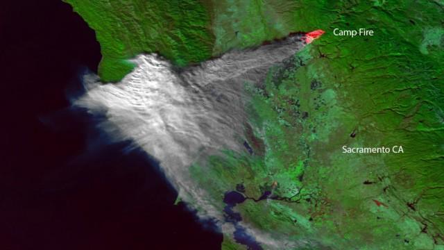 Naturkatasrophe Waldbrände in Kalifornien