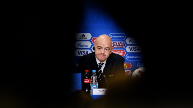 Closing Press Conference - FIFA Confederations Cup Russia 2017; Infantino